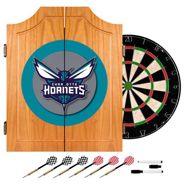 NBA Wood Dart Cabinet Set, Charlotte Hornets