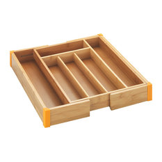 Wenko Bamboo Extendable Cutlery Tray Kitchen Drawer Dividers