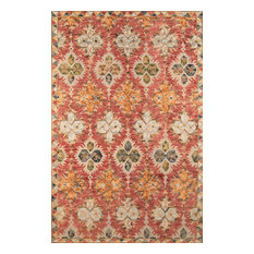 """Tangier Hand-Hooked Rug, Red, 7'6""""x9'6"""""""