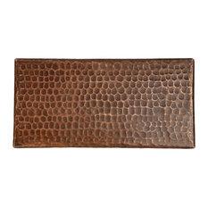 """Hammered Copper Tile, 4""""x8"""", Set of 8"""