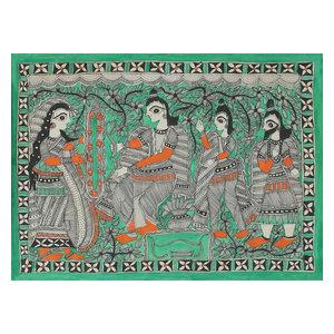 Novica Wedding Celebrations Madhubani Painting