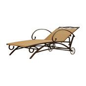 Valencia Resin Wicker/ Steel Multi-position Chaise Lounge, Honey