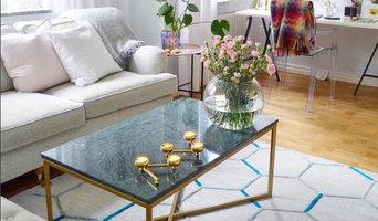 Soffbord marmor i modellen enkelkryss 100x60cm med grön marmor och mässingsfärga