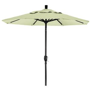 7.5 Foot Sunbrella Aluminum Crank Lift Push Tilt Market Umbrella, Black Pole