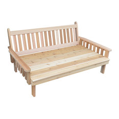Furniture Barn USA - Indoor/Outdoor 6' Cedar Traditional English Day Bed, Gray - Daybeds