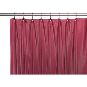 72 X 4Gauge Premium Vinyl Shower Curtain Liner With Metal Grommets Burgundy