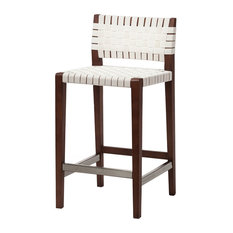 Design Tree Home - Risom Style Counter Stool, Natural White - Bar Stools and Counter Stools