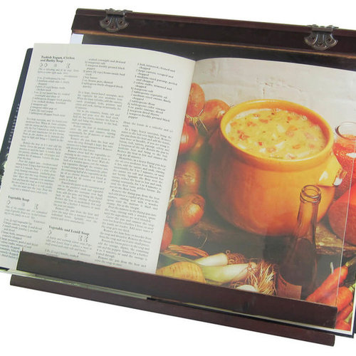 cookbook holder wooden acrylic splatter guard 4 viewing angles cookbook stands and