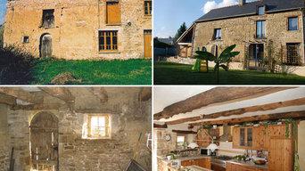 Exemple avant et après le traitement des murs dégradés par l'humidité des murs
