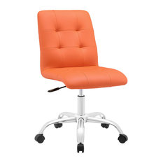 mod way prim mid back office chair orange office chairs