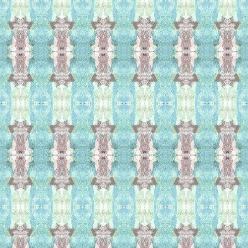 Sharon Holmin Interiors - Tribal Totem Stripe Blue Peel and Stick Wallpaper, 2'x10' Rolls - Wallpaper