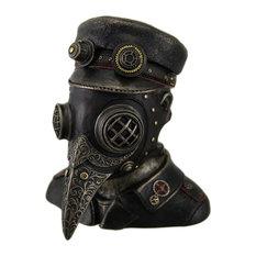 Steampunk Plague Doctor Antique Bronze Finish Trinket Box