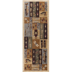Rustic Hall And Stair Runners by Tayse Rugs