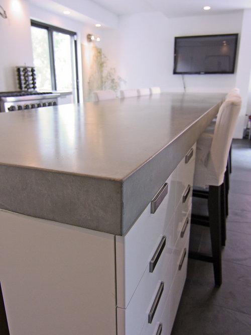 Concrete Kitchen Tops And Island   Kitchen Countertops Part 87