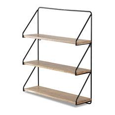 Madeleine Home - Leon Three Tier Floating Wall Shelf - Display & Wall Shelves