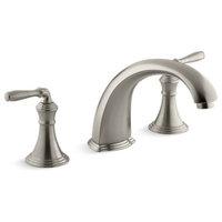 """Kohler Devonshire Deck-/Rim-Mount Bath Faucet Trim w/ 9"""" Non-Diverter Spouts"""