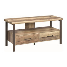 Stonecroft Furniture 48-inch TV Stand In Weathered Pine And Dark Bronze