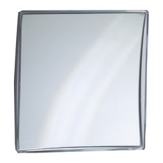 Wall Suction Cosmetic Makeup Magnifying Mirror, Silver Acrylic Frame, Large (7x)