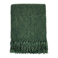 Textured Throw, Green Melange
