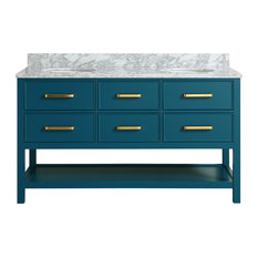 blue bathroom vanity. MOD  Louella Blue Bathroom Vanity With Marble Top 60 Vanities and Most Popular for 2018 Houzz