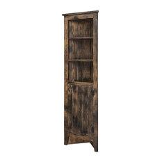 Farmhouse Corner Cabinet, Black