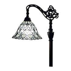 "Amora Lighting AM107FL11 Tiffany Style  Floor Lamp 62"" Adjustable Shade"