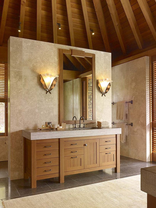 Asymmetrical Vanity Houzz