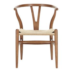 Amish Dining Wood Armchair, Walnut