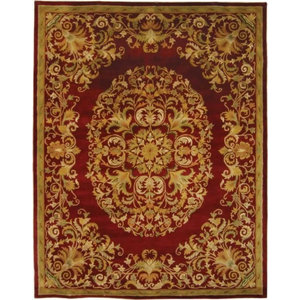 "No-Muv Non Slip Rug Pad For Rug On Carpet, 4x6$49.30. Safavieh Heritage HG640C Red 2'3"" ..."