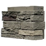 NextStone - NextStone Slatestone Outside Corners - 4 Corners Per Box, Pewter - Manufactured with specially formulated polyurethane and combined with fire retardants and UV inhibitors, NextStone insulated stone siding is cast from actual stone and rock patterns. Panels and Accessories and durable, lightweight, and install easy with screws.