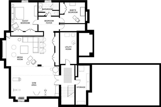 Basement of the week casual luxury in toronto for Basement suite plans