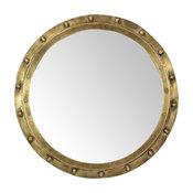 Round Brass Port Hole Mirror
