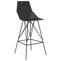 Vondom Faz Indoor/Outdoor Bar Stool, Black