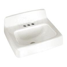 "American Standard 4869.004.020 Regalyn 20"" x 18"" Cast Iron Wall Hung Sink, White"