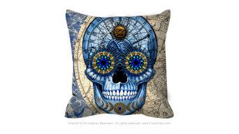 Sugar Skull Throw Pillows
