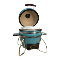 icon 101 Series Kamado Table Top Grill, Teal, No Electric Conversion Kit