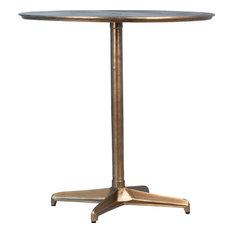 DOVETAIL AMELIA Bistro Table Brass Antique Cast Aluminium Iron