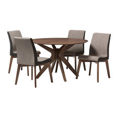 Midcentury. Clear All · Baxton Studio   Kimberly Walnut Wood Round 5 Piece Dining  Set   Dining Sets