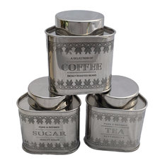 Attrayant GARIAN   3 Piece Garian Vintage Style Airtight Canister Tea Coffee Sugar   Kitchen  Canisters