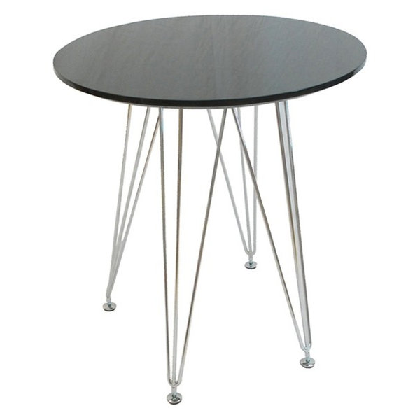 Mod Made Paris Tower Round Table, Black