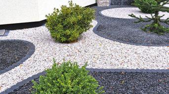Rock flower bed