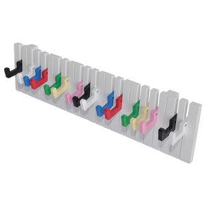 VidaXL Keyboard Design Wall-Mounted 16 Hook Coat Rack, Colourful