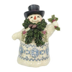 Enesco Heartwood Creek Victorian Snowman With Pine Scarf Figurine