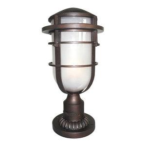 Reef Pedestal Lamp Post, Victorian Bronze