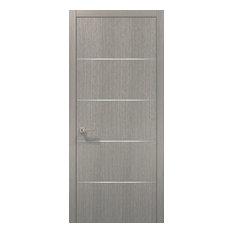 Wood Door 30 x 80 & Hardware | Planum 0020 Grey Oak | Pre-hung Panel