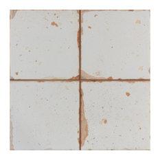 "13""x13"" Artesano Ceramic Floor/Wall Tiles, Set of 10, Blanco"