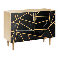 Stormy Disposition Dowel Credenza Natural/Natural