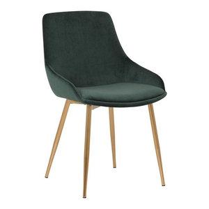 Heidi Velvet Dining Accent Chair, Green