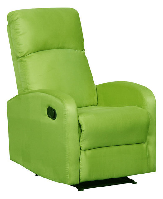 Modern Home Slim Design Microfiber Recliner, Lime Green ...