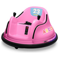 12V Kids Toy Electric Ride On Bumper Car, Pink